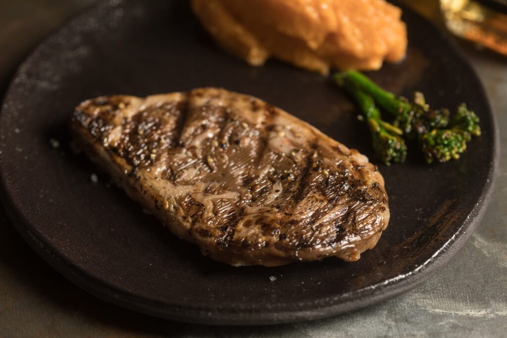 Cultured beef steak