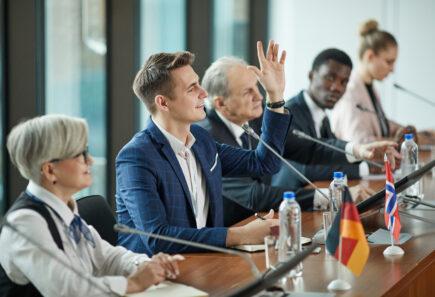 Political meeting