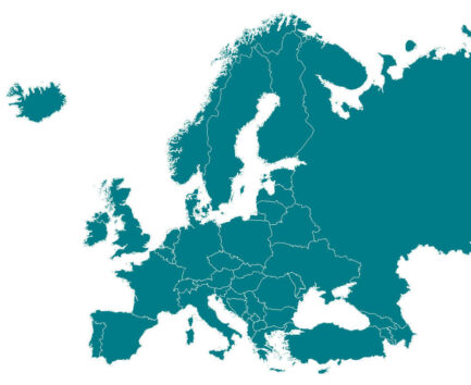 Map of Europe, where the Good Food Institute Europe operates